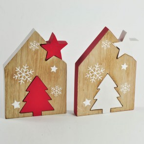 AFF-LST-19 CASETTA NATALE 2 ASS. BIANCO_ROSSO 15,5x22 cm 7,50 euro